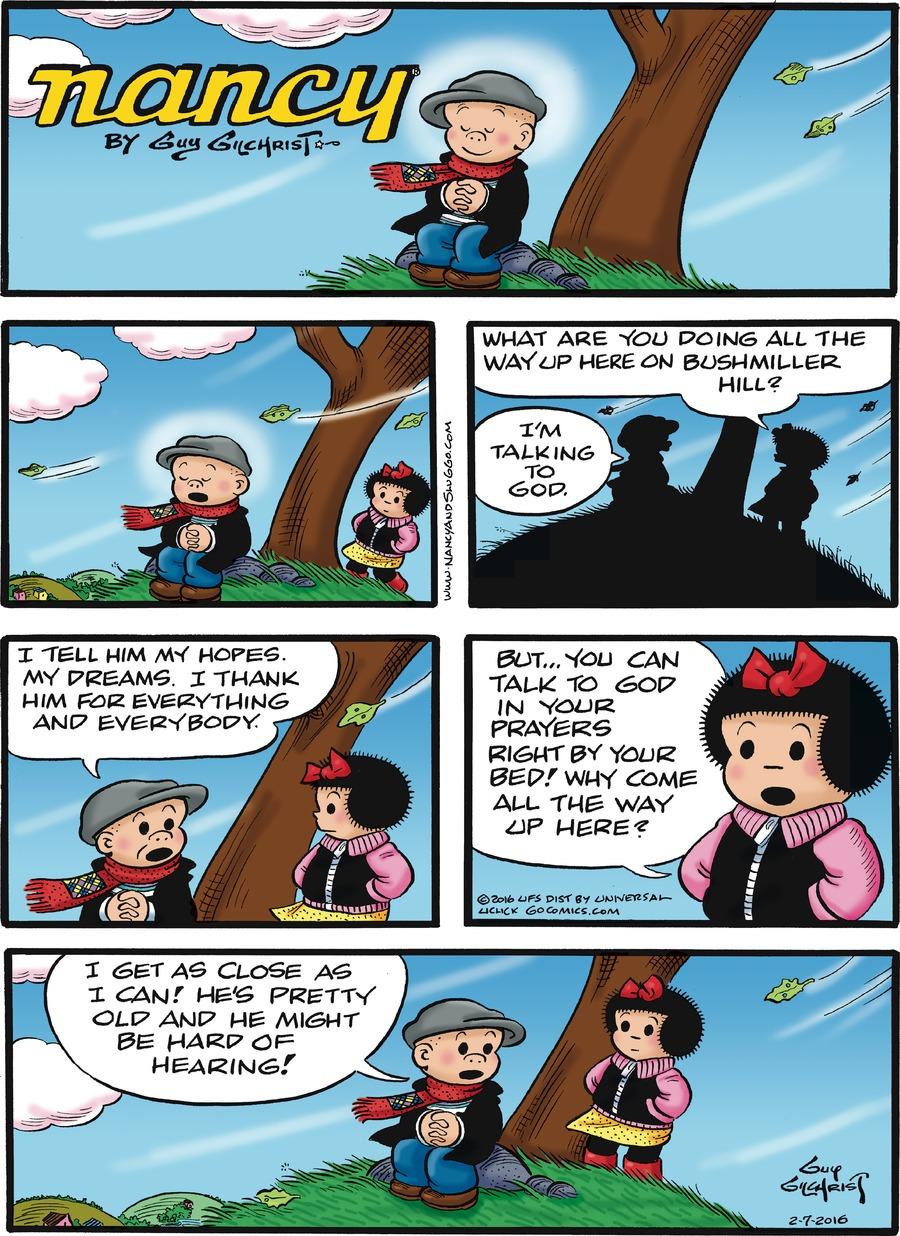Nancy for Feb 7, 2016 Comic Strip