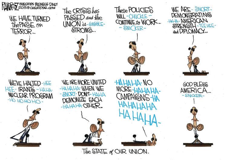 Michael Ramirez for Jan 22, 2015 Comic Strip