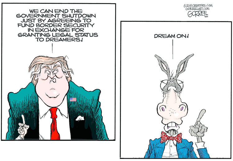 Bob Gorrell Comic Strip for January 08, 2019