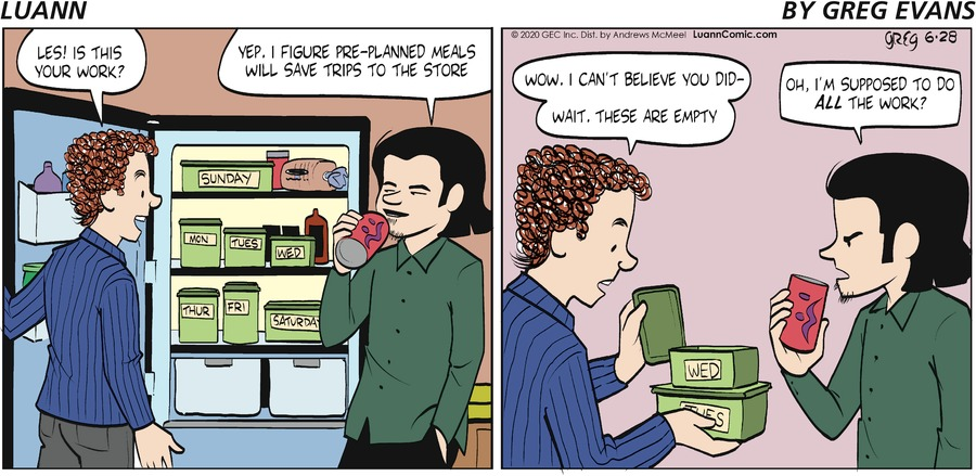 Luann Comic Strip for June 28, 2020