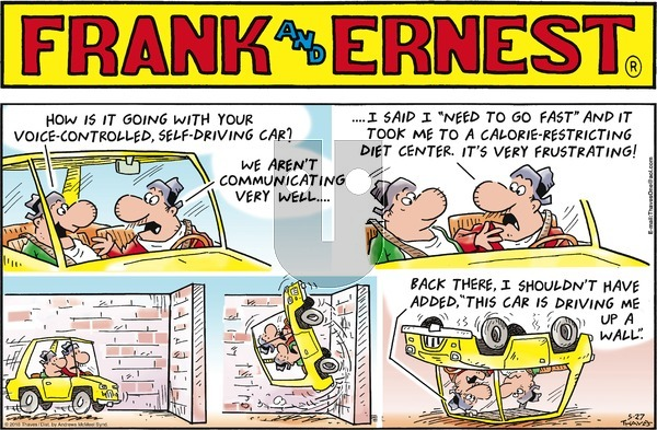 Frank and Ernest on Sunday May 27, 2018 Comic Strip
