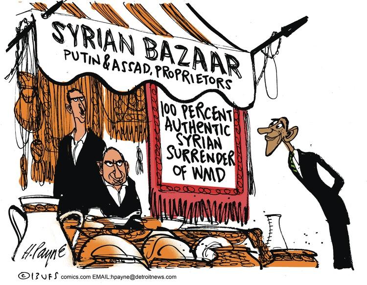 Syrian bazaar Putin & Assad, proprietors  100 percent authentic Syrian surrender of WMD