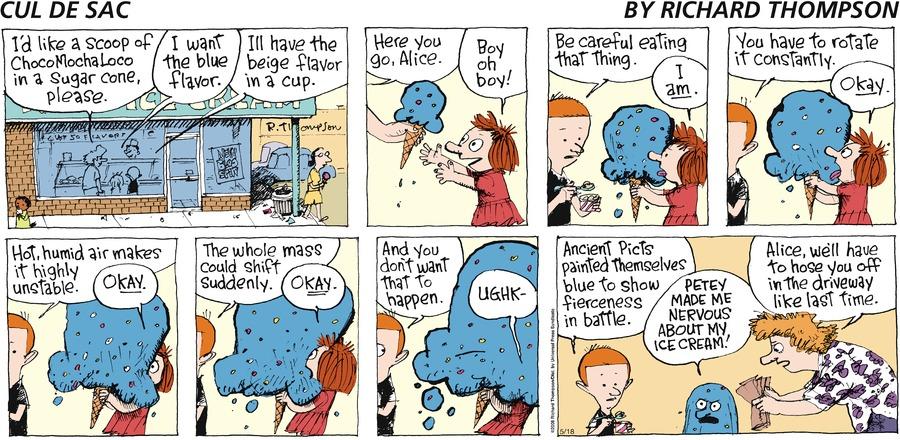 Cul de Sac Comic Strip for May 18, 2008
