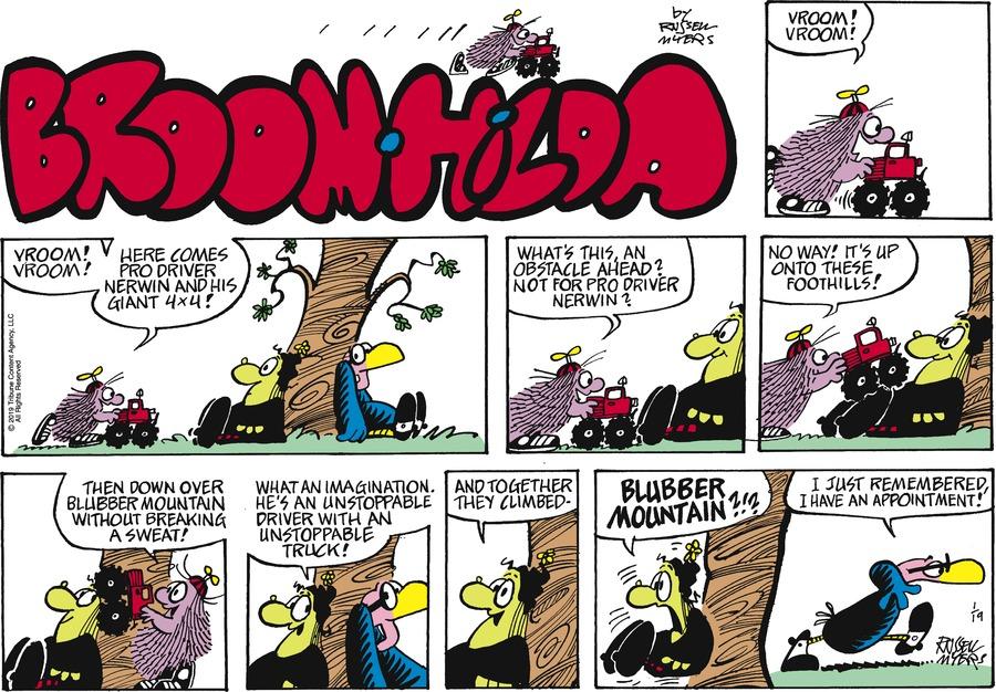 Broom Hilda Comic Strip for January 19, 2020