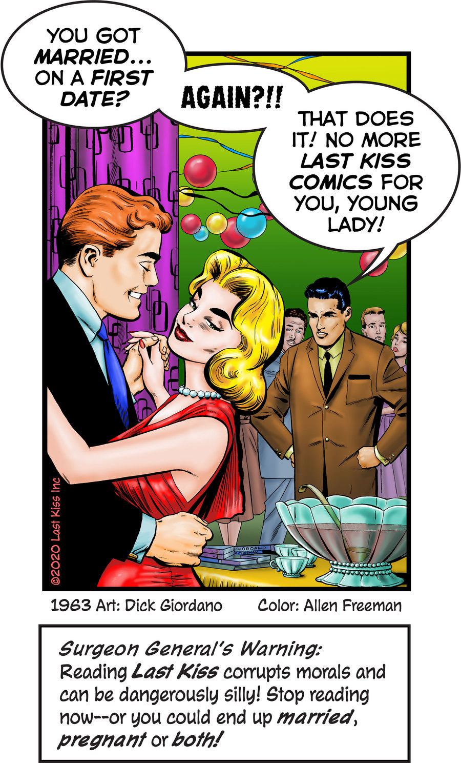 Last Kiss Comic Strip for January 13, 2021