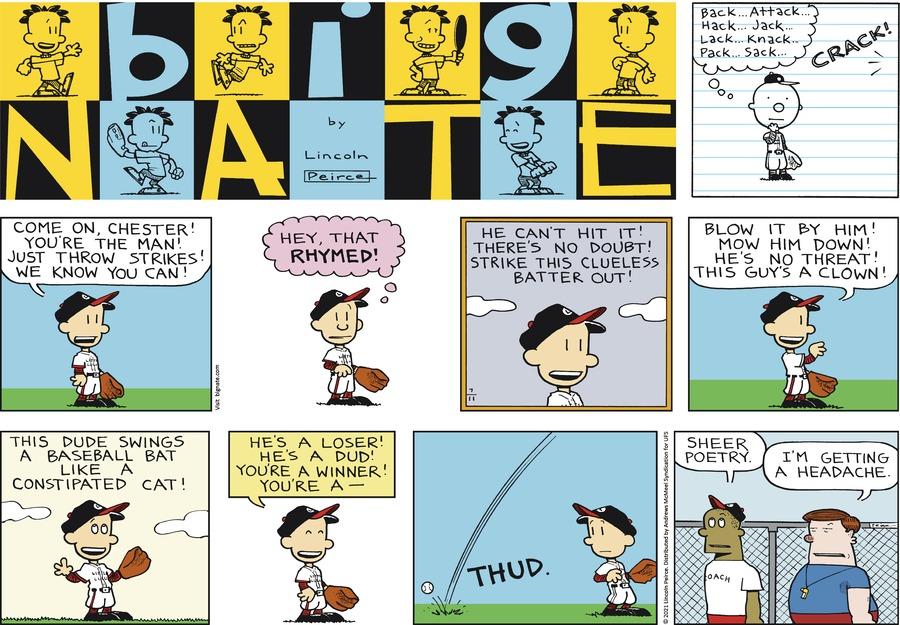 Big Nate Comic Strip for July 11, 2021