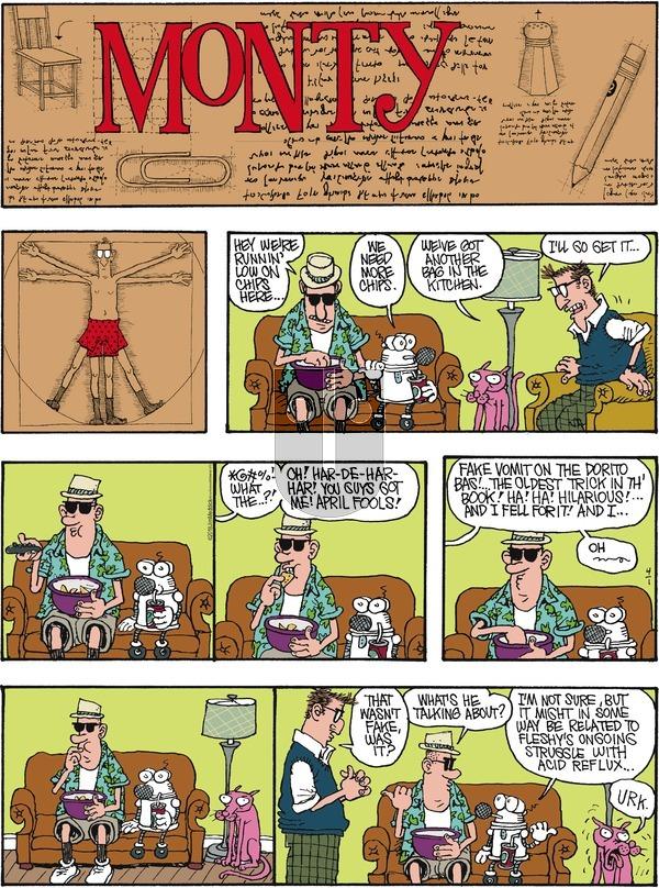 Monty - Sunday April 1, 2018 Comic Strip
