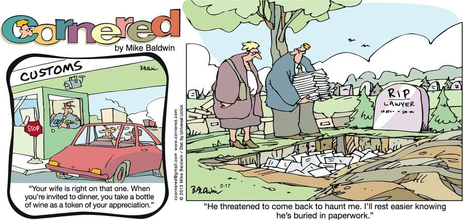 Cornered for Feb 17, 2013 Comic Strip