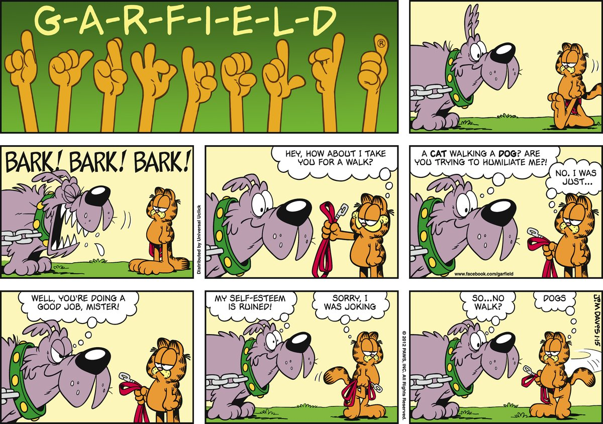 Dog:  Bark! Bark! Bark! 