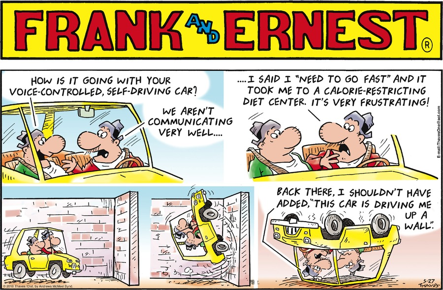 Frank and Ernest Comic Strip for May 27, 2018