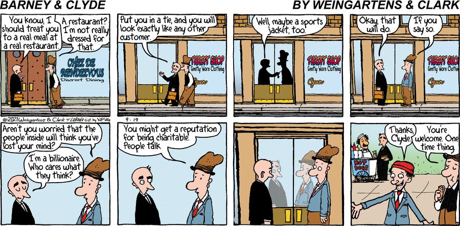 Barney & Clyde Comic Strip for September 19, 2021