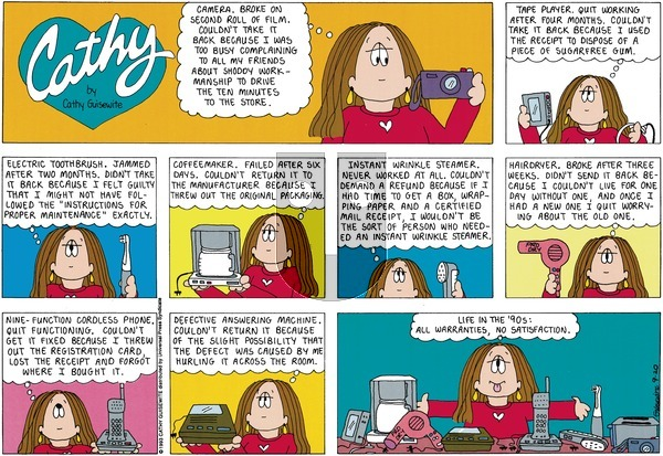 Cathy on Sunday September 20, 1998 Comic Strip