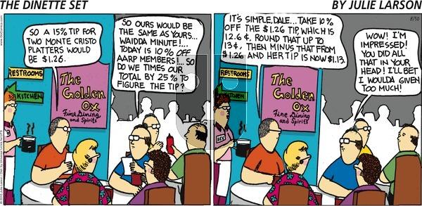 The Dinette Set - Sunday August 30, 2015 Comic Strip