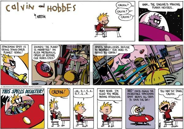 Calvin and Hobbes - Sunday September 1, 2019 Comic Strip