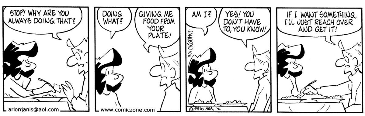 Arlo and Janis for Jan 28, 1999 Comic Strip