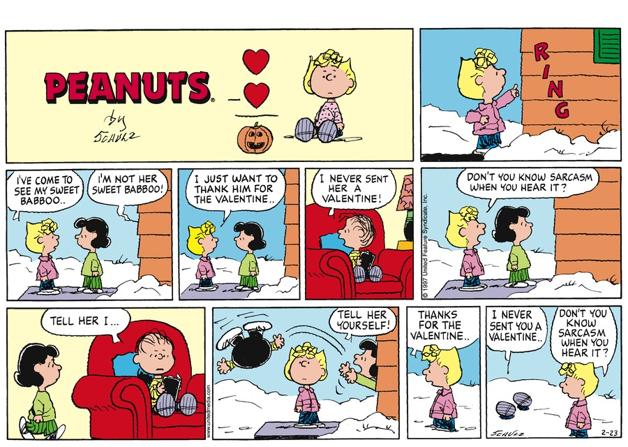 Peanuts Comic Strip for February 23, 1997