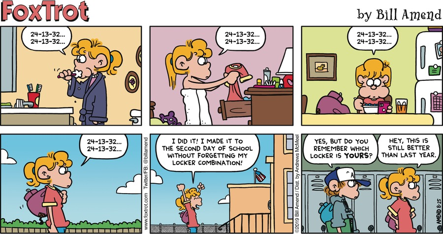 FoxTrot by Bill Amend for August 25, 2019