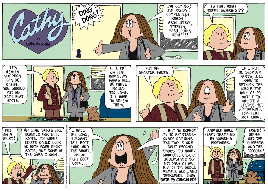 Cathy Comic Strip for November 17, 1996