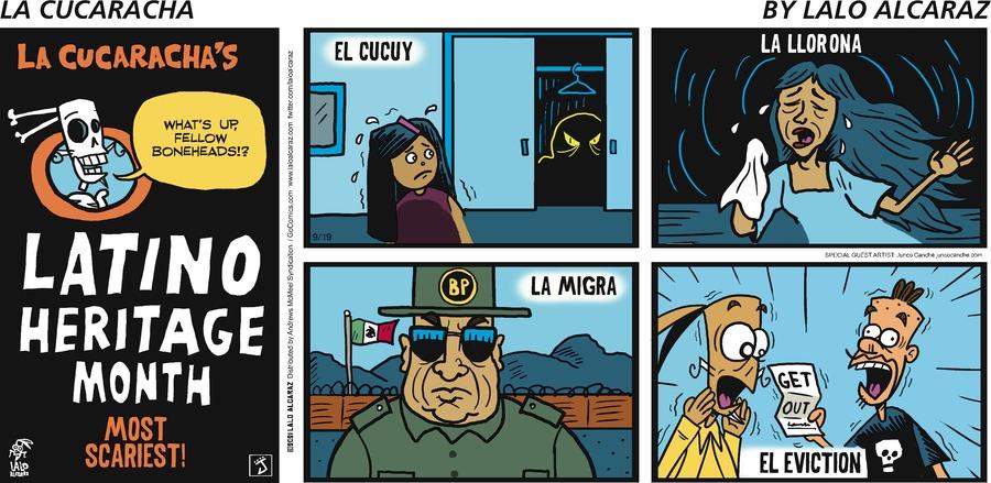 La Cucaracha Comic Strip for September 19, 2021