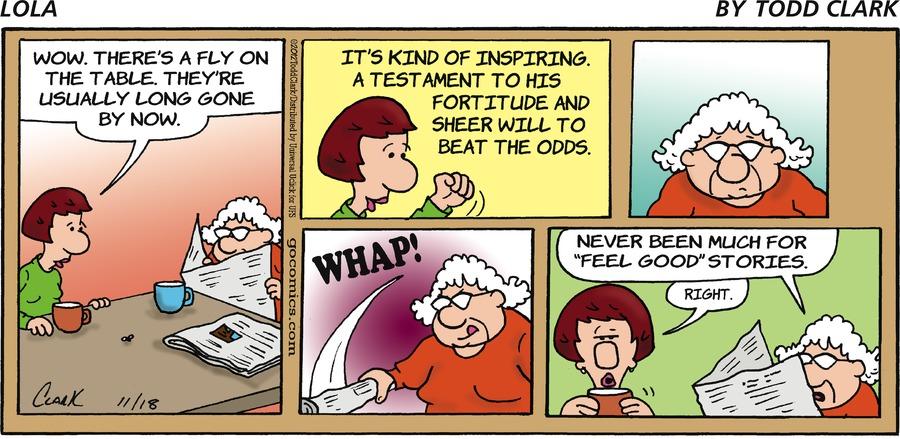 Lola for Nov 18, 2012 Comic Strip