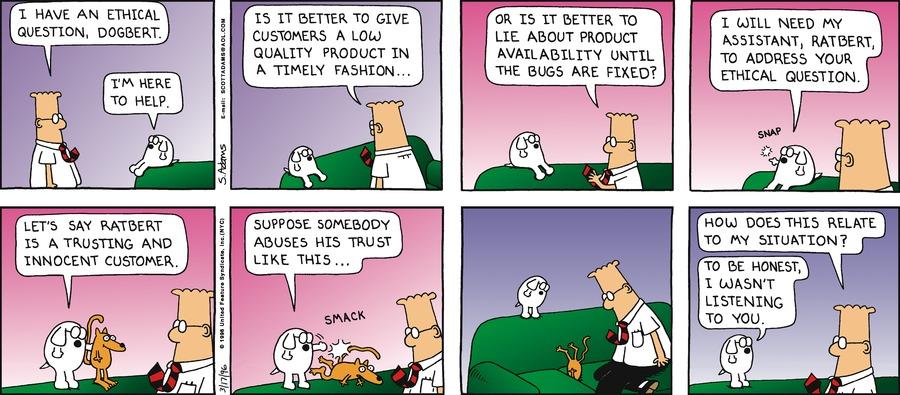Dilbert Classics Comic Strip for February 16, 2020