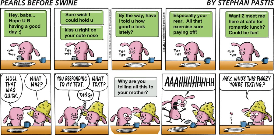 Pearls Before Swine Comic Strip for November 04, 2012