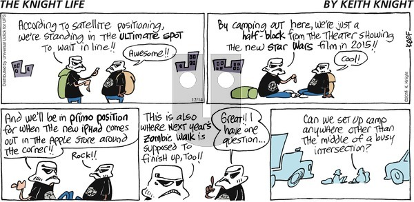 The Knight Life on Sunday December 14, 2014 Comic Strip