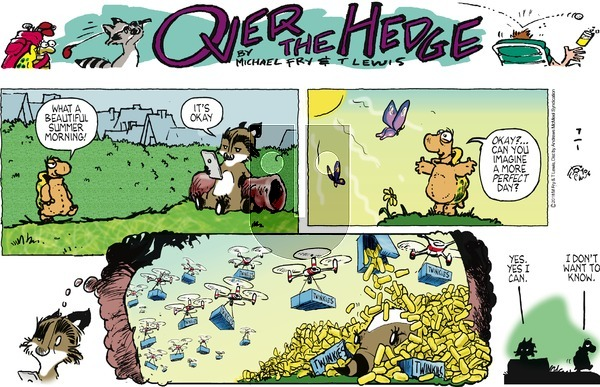 Over the Hedge on Sunday July 1, 2018 Comic Strip