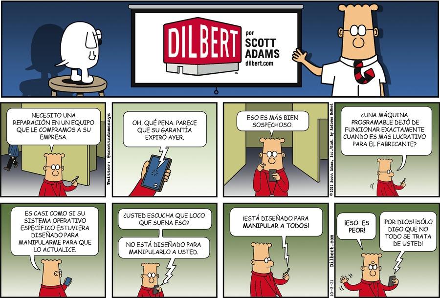 Dilbert en Español by Scott Adams on Sun, 03 Oct 2021