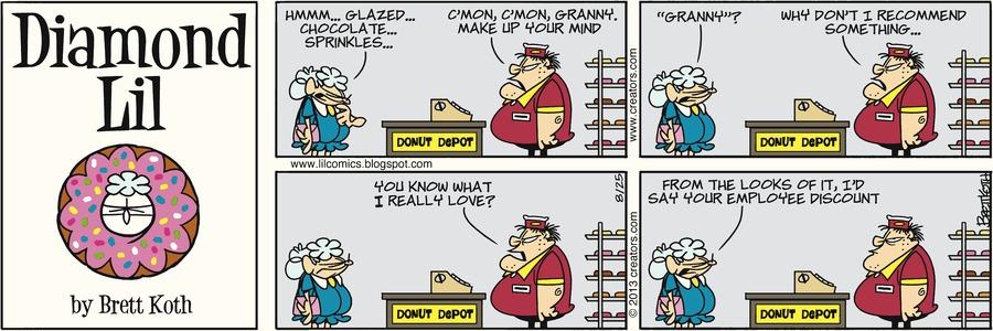 Diamond Lil for Aug 25, 2013 Comic Strip