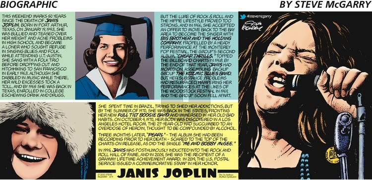 Biographic on Sunday October 4, 2020 Comic Strip