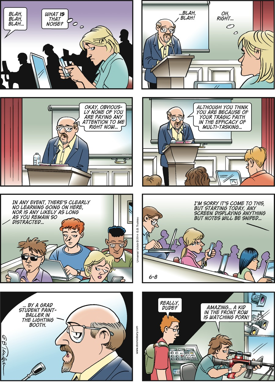Doonesbury Comic Strip for June 08, 2014