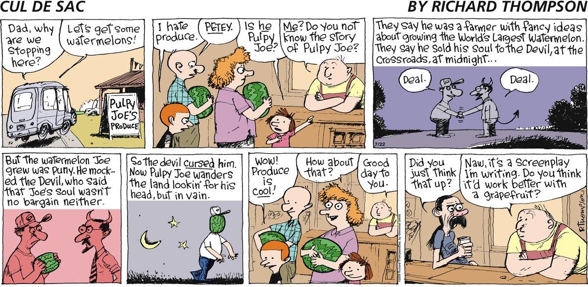 Cul de Sac for Jul 22, 2012 Comic Strip