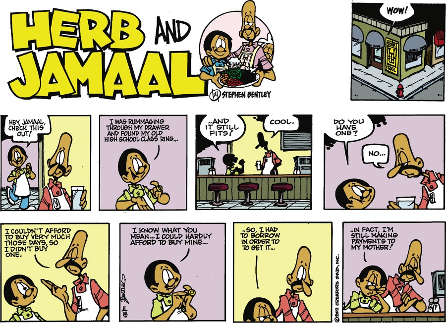 Herb and Jamaal for Nov 18, 2012 Comic Strip