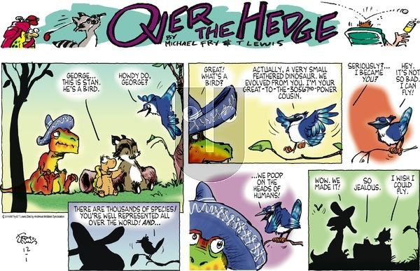Over the Hedge on Sunday December 1, 2019 Comic Strip