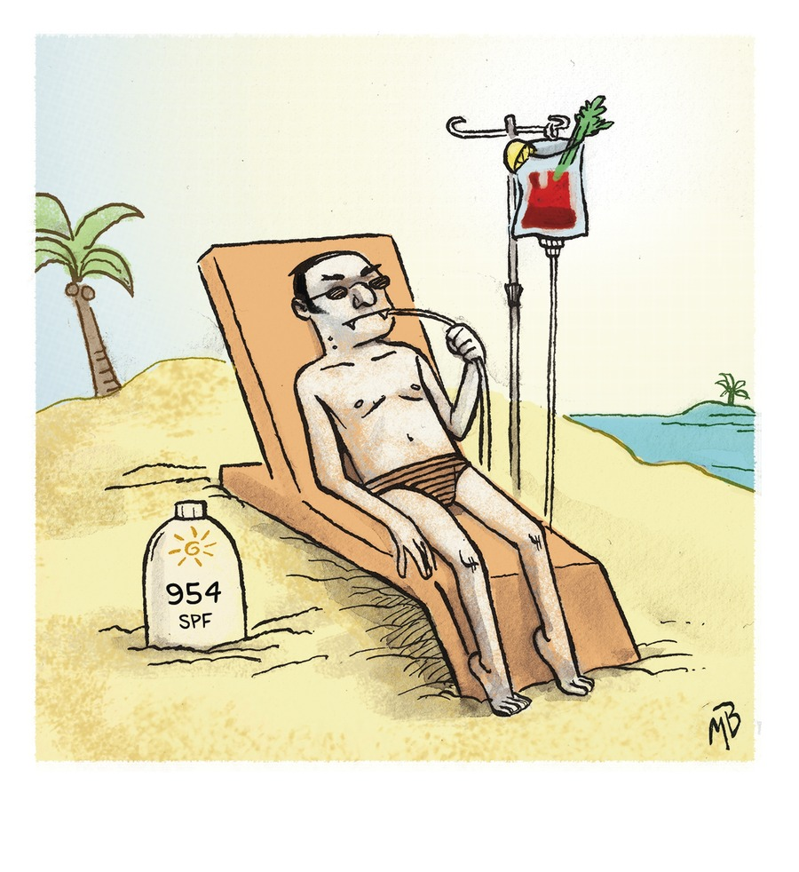 Dracula sunbathing