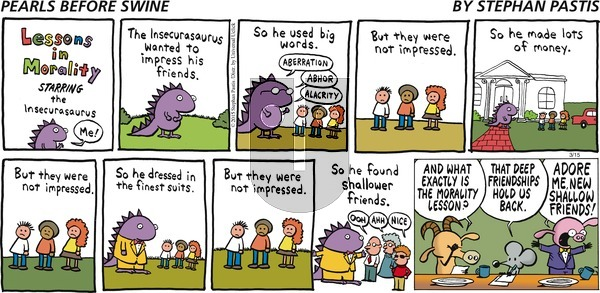 Pearls Before Swine on Sunday March 15, 2015 Comic Strip