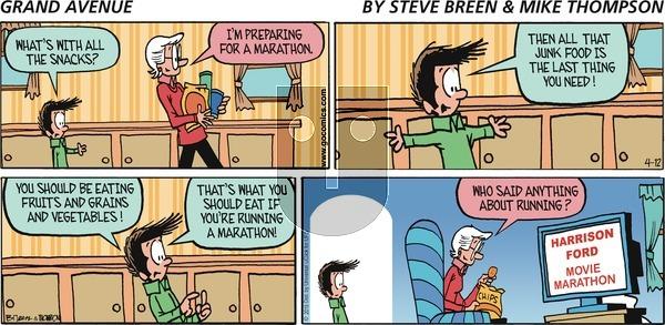 Grand Avenue on Sunday April 12, 2015 Comic Strip