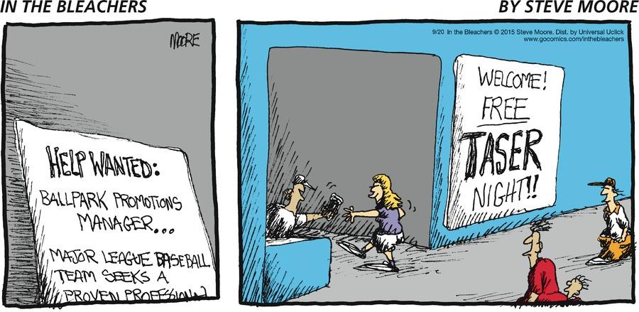 In the Bleachers for Sep 20, 2015 Comic Strip