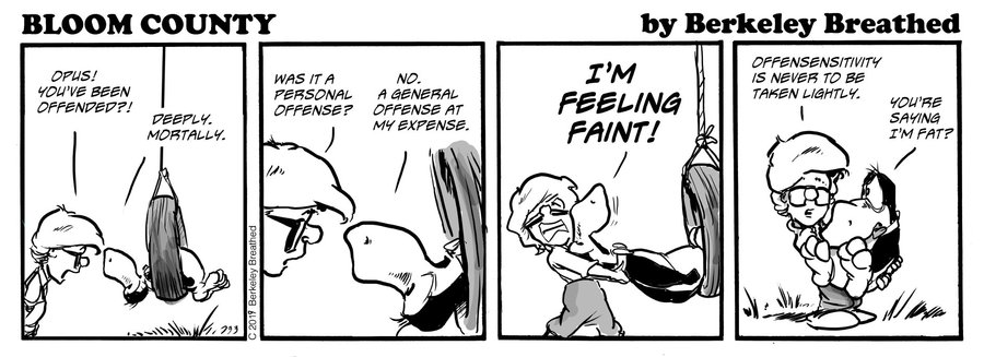 Bloom County 2018 by Berkeley Breathed for January 28, 2019