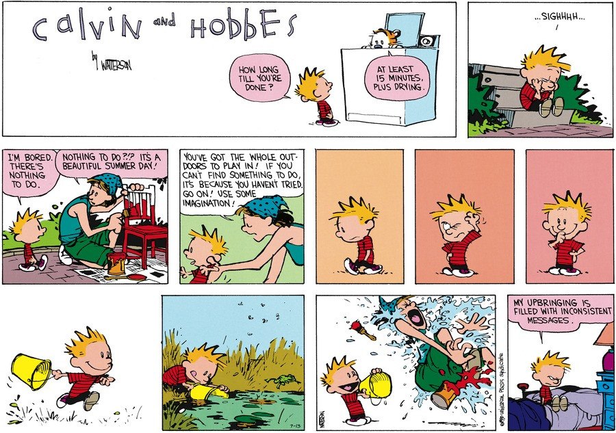 Calvin and Hobbes Comic Strip for July 13, 2014