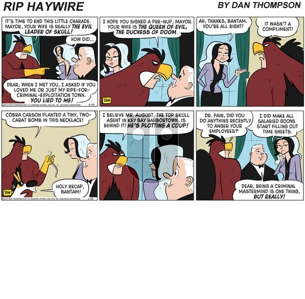 Rip Haywire on Sunday February 28, 2021 Comic Strip