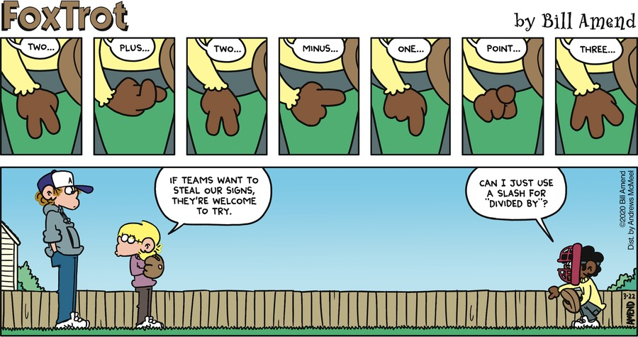 FoxTrot Comic Strip for March 22, 2020