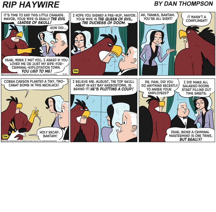 Rip Haywire Comic Strip for February 28, 2021