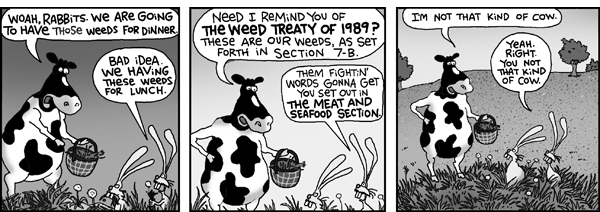 2 Cows and a Chicken Comic Strip for July 28, 2008
