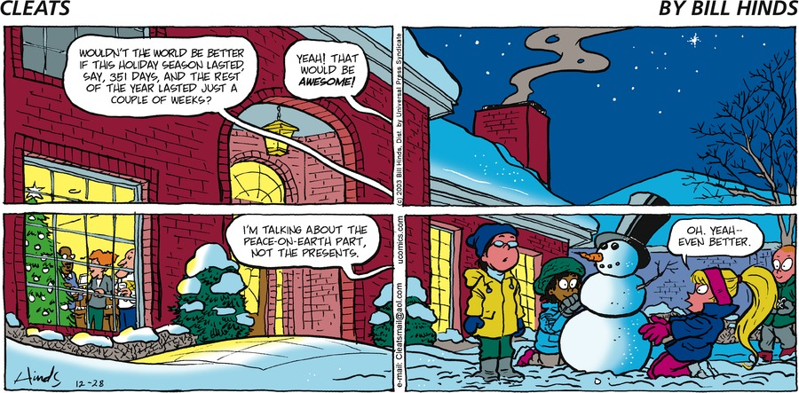 Cleats Comic Strip for December 28, 2003