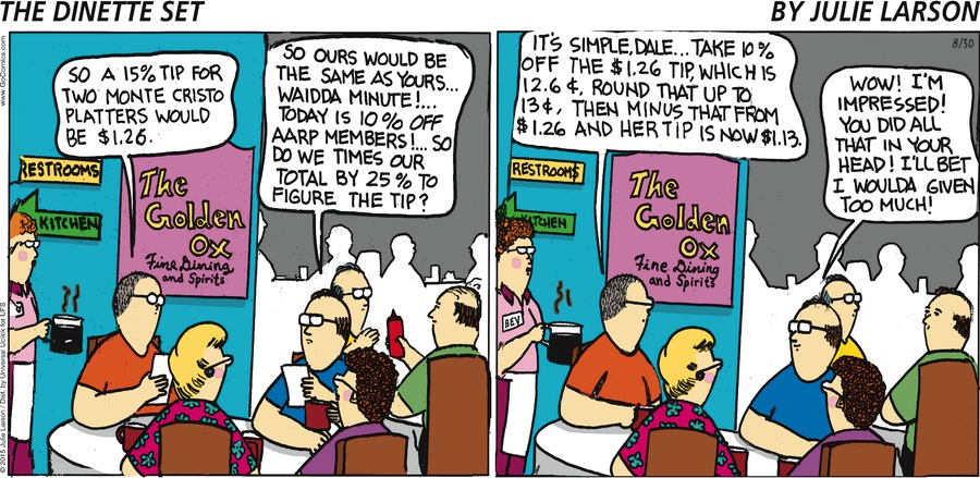 The Dinette Set Comic Strip for August 30, 2015