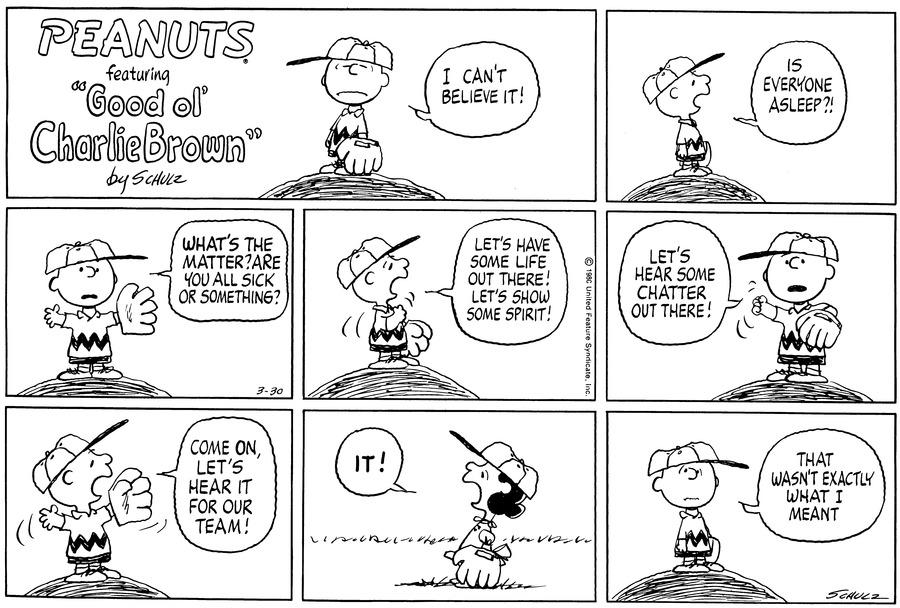 Peanuts Comic Strip for March 30, 1980