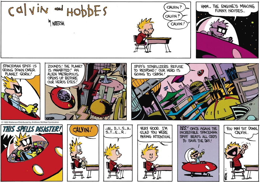 Calvin and Hobbes by Bill Watterson for September 01, 2019