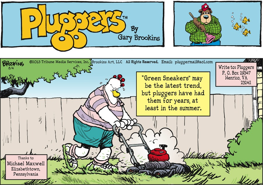 Pluggers for Aug 4, 2013 Comic Strip